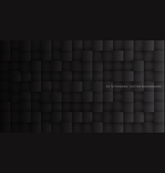 3d squares dark gray abstract background vector