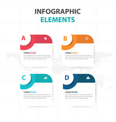 abstract circle text box business infographics vector image