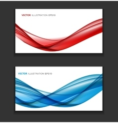 Abstract Colored Wave Card Background vector