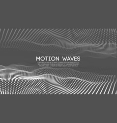 Abstract grey technology wave for web background vector