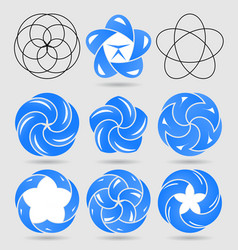 abstract logo templates set the concept of water vector image