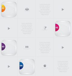 Abstract modern infographic vector