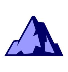 abstract mountain icon logo concept vector image