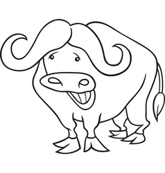 african buffalo for coloring book vector image