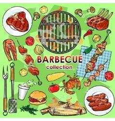 Barbecue collection vector