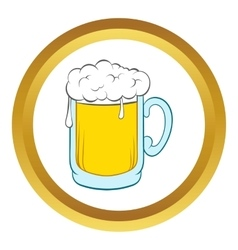 Beer mug icon cartoon style vector image vector image