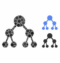 Binary tree composition icon spheric items vector