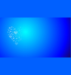 Blue heart shape love vector