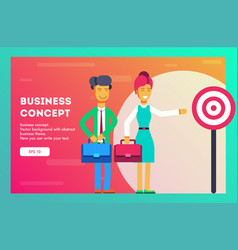 business concept successful businessmen vector image