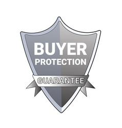 Buyer protection guarantee label emblem isolated vector