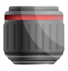 camera professional lens icon cartoon style vector image