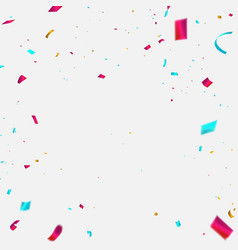 Celebration background template with confetti vector