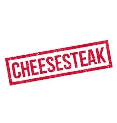 Cheesesteak rubber stamp vector
