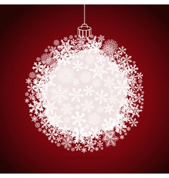 Christmas gift ball snowflake design background vector image