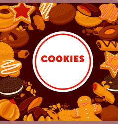 Cookies shop confectionery pastry or bakery vector