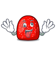 crazy gumdrop mascot cartoon style vector image