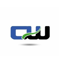 CW company linked letter logo icon vector