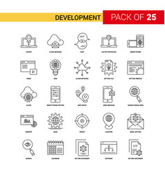development black line icon - 25 business outline vector image