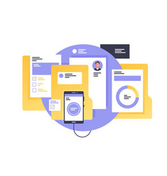 Documents with personal information vector
