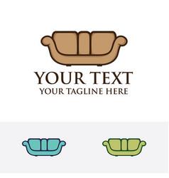 family sofa logo vector image