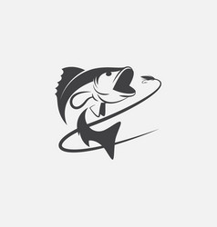 Fishing logo design hook up logo vector