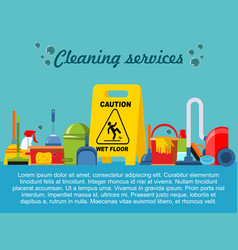 Flat cleaning service template vector