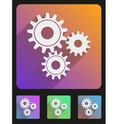 Flat icon set mechanic gears vector