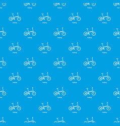 Folding bike pattern seamless blue vector
