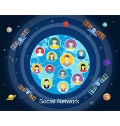 Global social network concept vector image