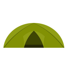 green tent for camping icon isolated vector image