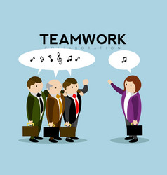 group of businessmen talking teamwork vector image