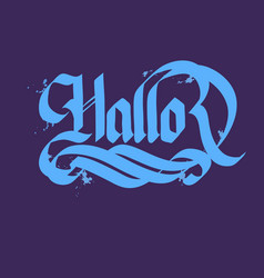 hallo typographical concept vector image