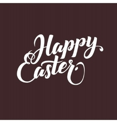 Happy Easter Typographical Background Hand vector image