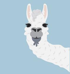 happy head llama vector image