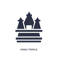 Hindu temple icon on white background simple vector