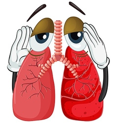 Human lung with cancer vector