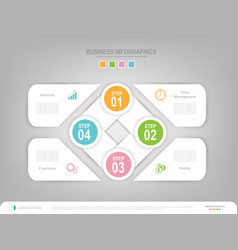 infographic template of four steps for your vector image