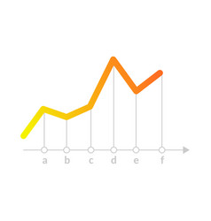 linear graph chart icon vector image
