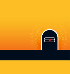 Lord shiva shivling background for shivratri vector