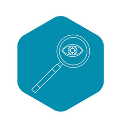 magnifying glass icon outline style vector image