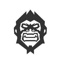 monkey face logo creative concept vector image