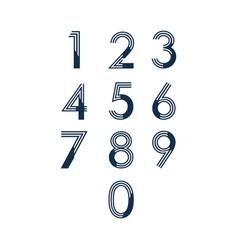 Number set template design vector