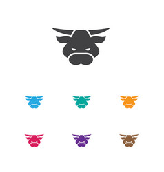 Of animal symbol on bull icon vector