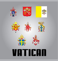 Official government elements of vatican vector