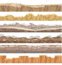 Old rock road seamless endless fantastic rockie vector