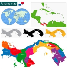 Panama map vector image