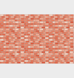 pattern wall brick seamless red vector image