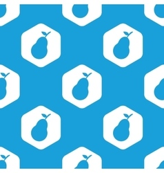 Pear hexagon pattern vector image