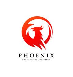 phoenix circle vector image
