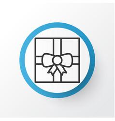 present box icon symbol premium quality isolated vector image